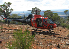 DECC helicopter at Warrumbungle National Park